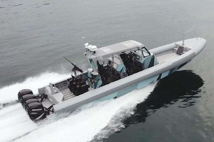 Zodiac Hurricane interceptor commando boat