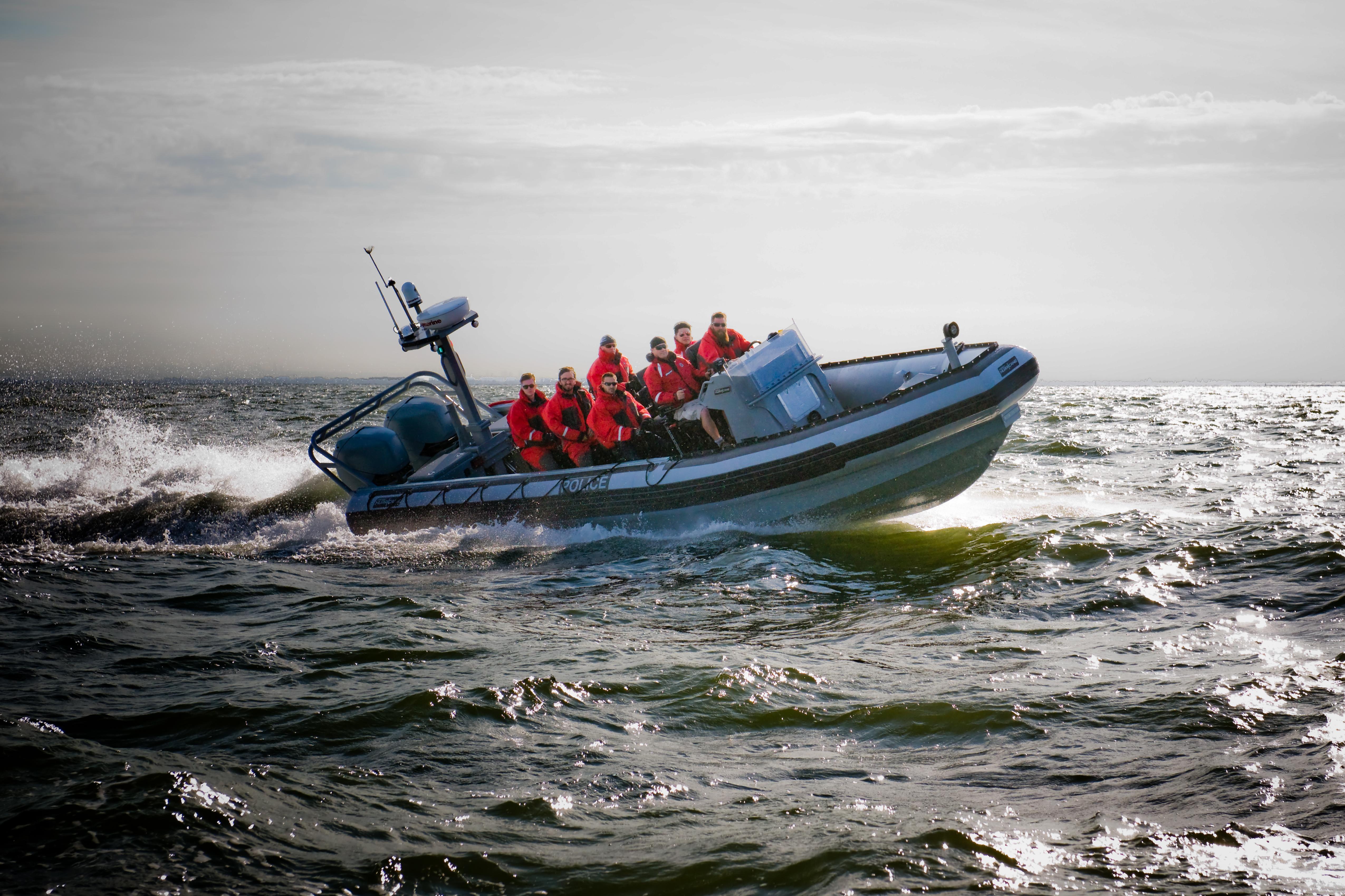 Zodiac Hurricane police boat